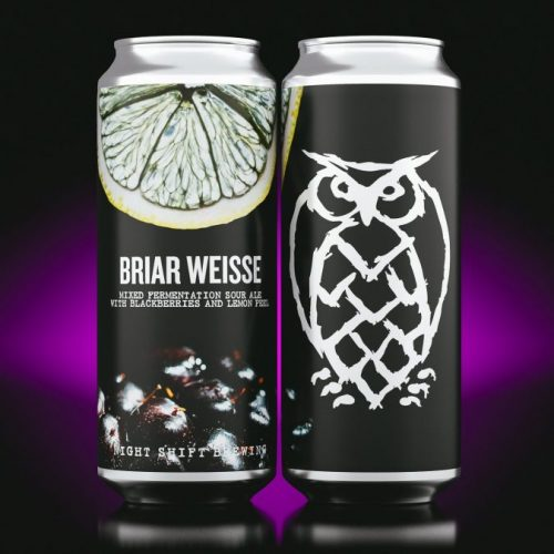 Briar Weisse: Mixed Fermentation Sour Ale with Blackberries & Lemon Peel
