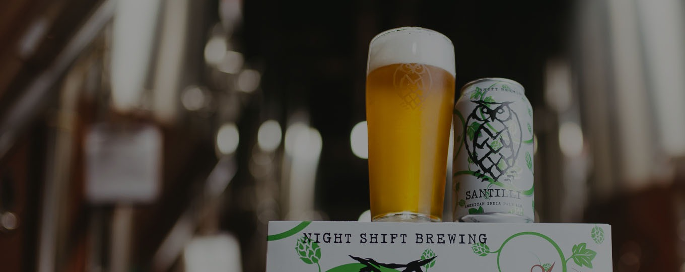 Night Shift Brewing Santilli & Glass