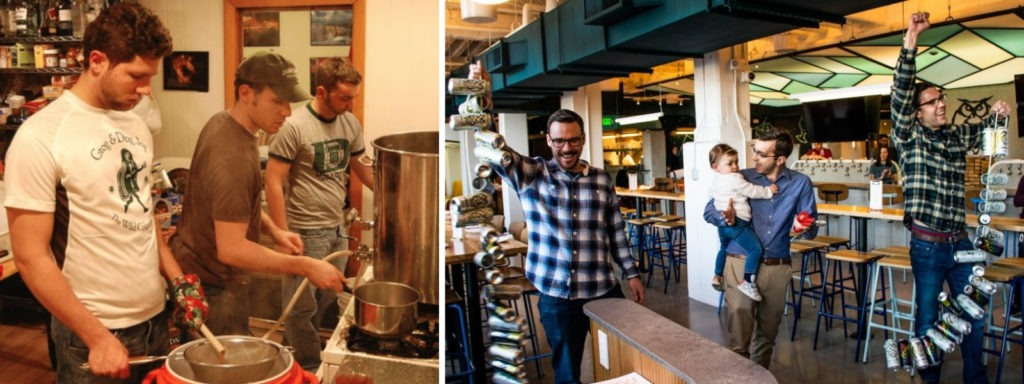 The Night Shft Brewing founders, from home brewing as a side hustle to now