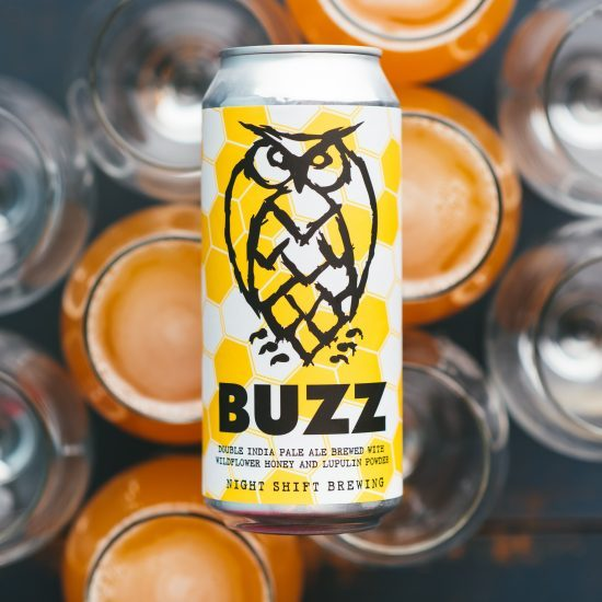 BUZZ: DIPA WITH LUPULIN POWDER AND WILDFLOWER HONEY
