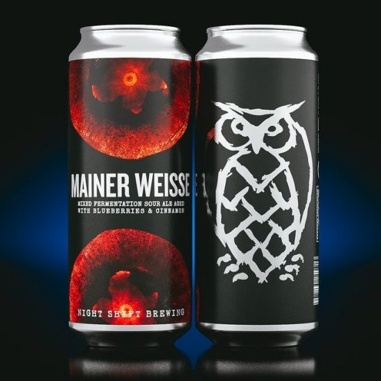 Mainer Weisse: Mixed Fermentation Sour Ale with Blueberries & Cinnamon